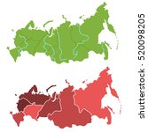 russia map outline and... | Shutterstock .eps vector #520098205