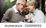 senior couple afternoon tea...   Shutterstock . vector #520098592