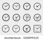 set of time icons. clock face... | Shutterstock .eps vector #520099225