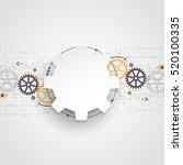 vector illustration gear wheel  ...   Shutterstock .eps vector #520100335
