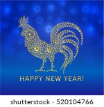 rooster vector illustration.... | Shutterstock .eps vector #520104766