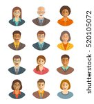 business people avatars set.... | Shutterstock . vector #520105072