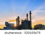 gas turbine electrical power... | Shutterstock . vector #520105675