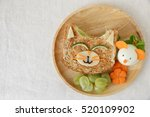 cat and mouse healthy lunch ... | Shutterstock . vector #520109902