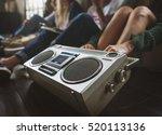 friends radio boombox sound... | Shutterstock . vector #520113136