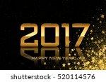 2017   vector happy new year... | Shutterstock .eps vector #520114576