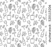seamless pattern with wine...