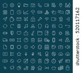 100 thin line universal icons... | Shutterstock .eps vector #520117162