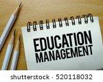 education management text... | Shutterstock . vector #520118032