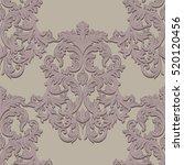 vintage baroque damask pattern... | Shutterstock .eps vector #520120456