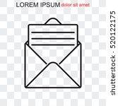 line icon  open message | Shutterstock .eps vector #520122175