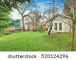 photo of bungalow backyard with ... | Shutterstock . vector #520124296