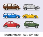 car icons set in flat style | Shutterstock .eps vector #520124482
