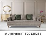 modern sofa in luxury living... | Shutterstock . vector #520125256