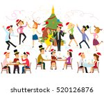 funny business people drinking  ... | Shutterstock .eps vector #520126876