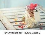 beautiful lights  garland in a... | Shutterstock . vector #520128052