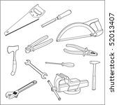 the vector image of tools | Shutterstock .eps vector #52013407