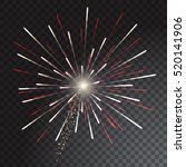 red and grey coloured firework... | Shutterstock .eps vector #520141906