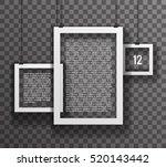frames paper big realistic text ... | Shutterstock .eps vector #520143442