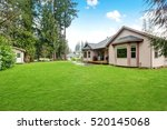 backyard view of luxury home... | Shutterstock . vector #520145068