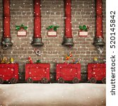 holiday greeting card for... | Shutterstock . vector #520145842