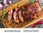 oven barbecued pork shoulder ... | Shutterstock . vector #520147045