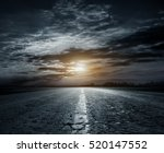 country road at night with...   Shutterstock . vector #520147552