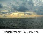 Dark  Sky  And  Sea  In Sunset