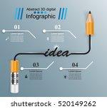 3d infographic design template... | Shutterstock .eps vector #520149262