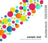 circle pattern on white... | Shutterstock .eps vector #52015258