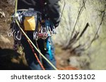 carabiners and climbing... | Shutterstock . vector #520153102