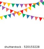 colorful bunting party...   Shutterstock .eps vector #520153228