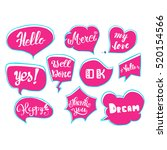 vector set of comic speech...   Shutterstock .eps vector #520154566