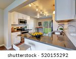freshly remodeled kitchen room... | Shutterstock . vector #520155292