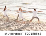 fitness  sport and healthy... | Shutterstock . vector #520158568