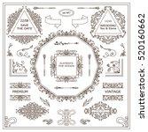 vector set of vintage elements... | Shutterstock .eps vector #520160662