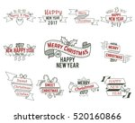 christmas typography collection.... | Shutterstock . vector #520160866
