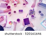 business people working at... | Shutterstock . vector #520161646