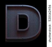 prison metal font. 3d rendering | Shutterstock . vector #520162456