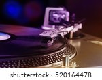 vinyl record player for dj.... | Shutterstock . vector #520164478
