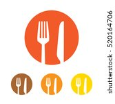 fork and knife icon vector | Shutterstock .eps vector #520164706
