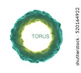 deformed torus. element for... | Shutterstock .eps vector #520164922