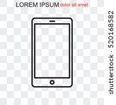 line icon  phone   Shutterstock .eps vector #520168582