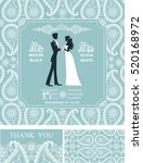 wedding invitation set wedding... | Shutterstock .eps vector #520168972