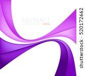 purple curve line vector... | Shutterstock .eps vector #520172662