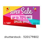 super sale banner  70  off ... | Shutterstock .eps vector #520179802