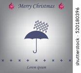 umbrella and rain drops. vector ... | Shutterstock .eps vector #520180396