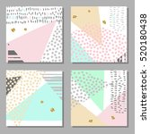 set of colorful cards. modern... | Shutterstock .eps vector #520180438