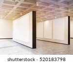 side view of exhibition hall... | Shutterstock . vector #520183798