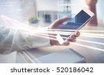 double exposure of blurred road ... | Shutterstock . vector #520186042